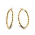 rope hoop earring for women in 14K yellow gold FDEAR1100ANGLE1 NL YG
