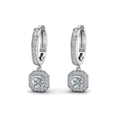 asscher cut diamond halo hoops earrings in 14K white gold FDEAR1185ASANGLE1 NL WG