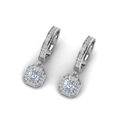asscher cut diamond halo hoops earrings in 14K white gold FDEAR1185ASANGLE2 NL WG