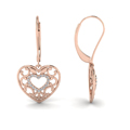 filigree heart diamond gold earring in 14K rose gold FDEAR650069 NL RG