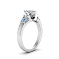 marquise cut baguette bar and marquise diamond engagement ring in 14K white gold FDENR1120MQRANGLE2 NL WG