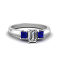 emerald-cut-diamond-engagement-ring-with-blue-sapphire-in-14K-white-gold-FDENR264EMRGSABL-NL-WG