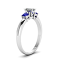 emerald-cut-diamond-engagement-ring-with-blue-sapphire-in-14K-white-gold-FDENR264EMRGSABLANGLE2-NL-WG