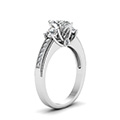 marquise shaped diamond milgrain pattern side stone engagement ring in 14K white gold FDENR7325MQRANGLE2 NL WG