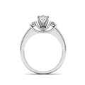 marquise shaped diamond milgrain pattern side stone engagement ring in 14K white gold FDENR7325MQRANGLE3 NL WG