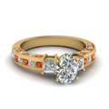 oval-shaped-diamond-engagement-ring-with-orange-sapphire-in-14K-yellow-gold-FDENS1096OVRGSAOR-NL-YG