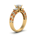oval-shaped-diamond-engagement-ring-with-orange-sapphire-in-14K-yellow-gold-FDENS1096OVRGSAORANGLE2-NL-YG