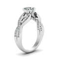 heart shaped twist pave accented diamond engagement ring in 14K white gold FDENS3319HTRANGLE2 NL WG