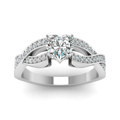 heart shaped twist pave accented diamond engagement ring in 14K white gold FDENS3319HTRANGLE5 NL WG