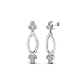 open marquise gold round diamond stud earring for women in 14K white gold FDOEAR40499 NL WG