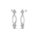 open marquise gold round diamond stud earring for women in 14K white gold FDOEAR40499ANGLE1 NL WG